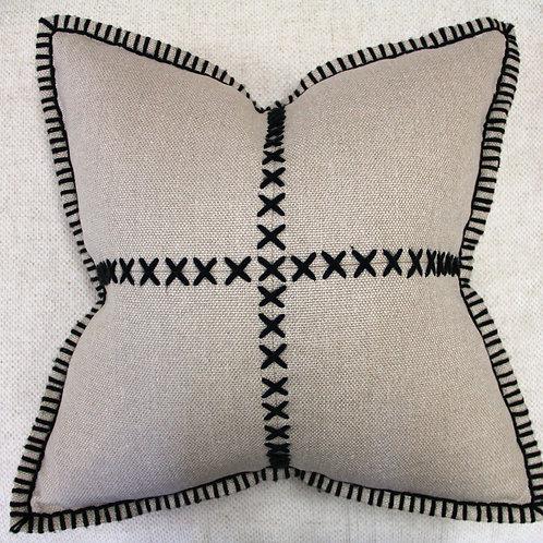 Hand-stitched Linen Pillow