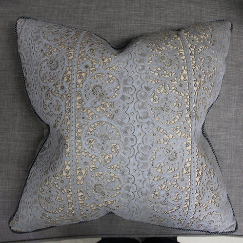 Embossed Leather Pillow for Sofa Dećor