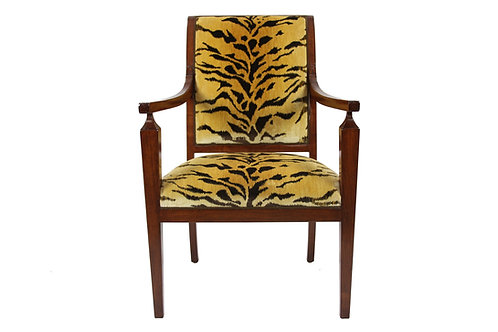 Italian Chair in Leopard Fabric