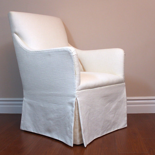 Pure White Bedroom Chair, with Skirt