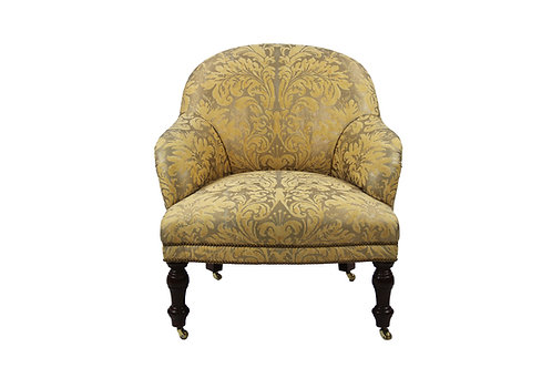 Low Seat English Chair in Fortuni Fabric