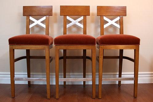 Three Swivel Bar Chairs