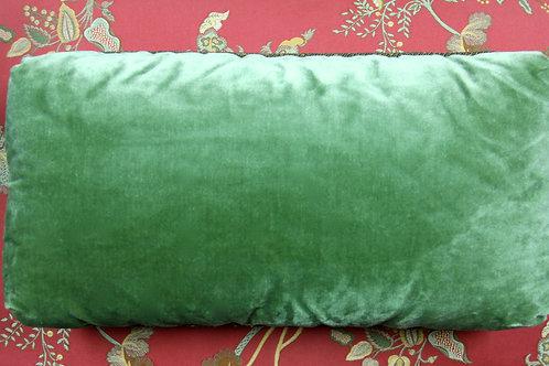 Green Suede Kidney Pillow