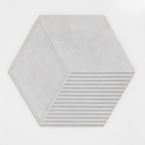 Large Grey Hexagonal Concrete Tray