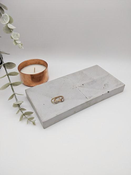 Concrete Indent Jewellery Tray