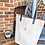 Thumbnail: Genuine Leather and Canvas Tote Bag