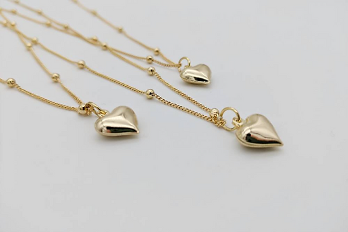 18ct gold plated locked heart pendant necklace