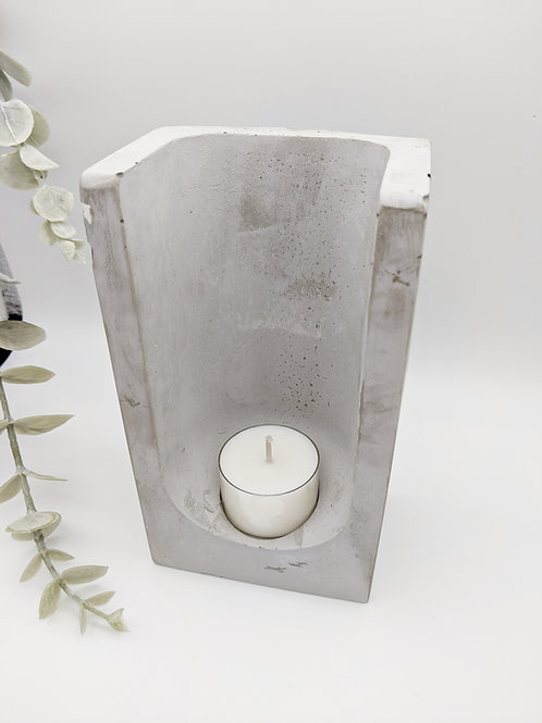 Tall Concrete Tea Light Candle Holder