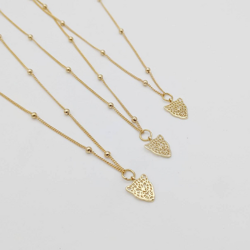 18ct gold plated tiger head pendant necklace