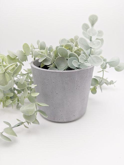 9cm Concrete plant pot