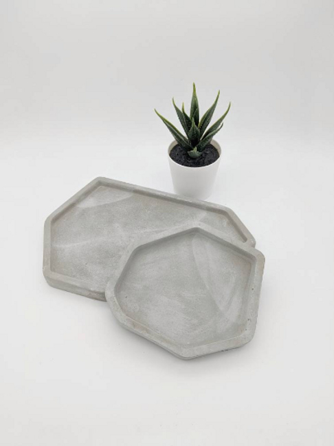 Irregular Concrete Tray