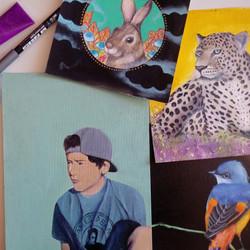 Ilustración con Pintura