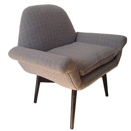 sillón lana y madera 91x68x89h