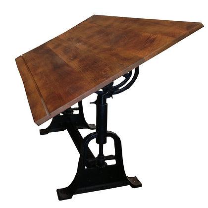 mesa arquitecto madera hierro 165x90
