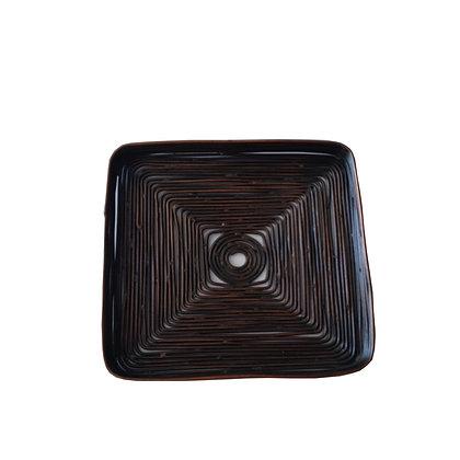 6 posavasos hilos de cobre 11,5x11,5x1h