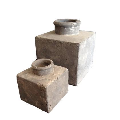 set/2 jarrones piedra