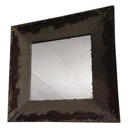 espejo madera craquelado 91x91