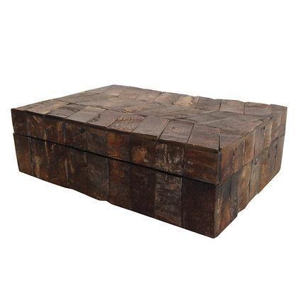 caja de asta plumeada 26x19x8h