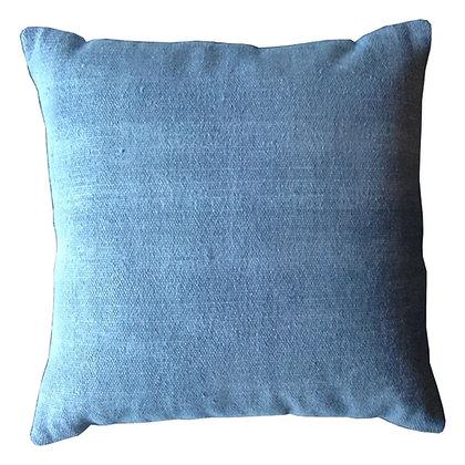 cojín azul agua lino rústico 50x50