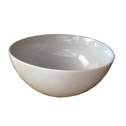 ensaladera porcelana blanca d23,5x9h