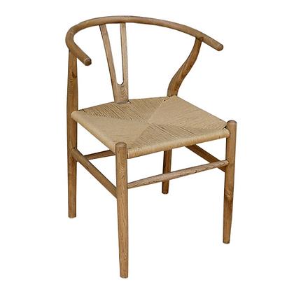 silla madera con asiento cuerda