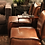Thumbnail: sillón cuero con ruedas 60x70x84h