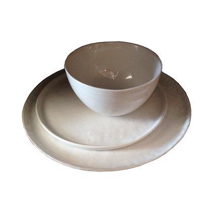 vajilla porcelana blanca 18 piezas