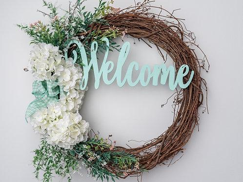 Tiffany Blue Welcome Wreath