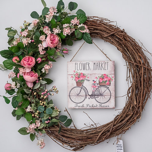 """Flower Market Wreath- 24"""""""
