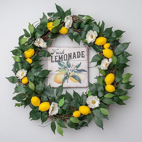 Fresh Lemonade Wreath