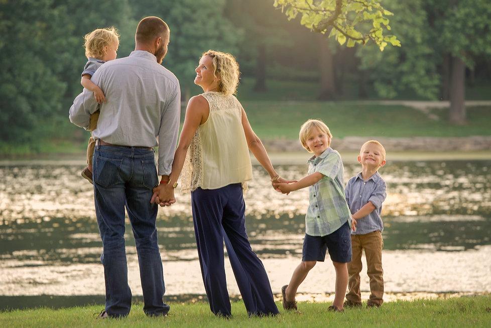 Family sunset photography