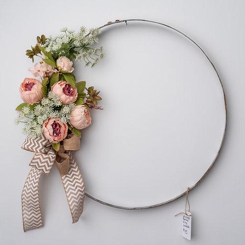 Whiskey Barrel Ring Wreath