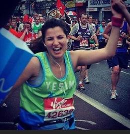 Yesim running the London Marathon