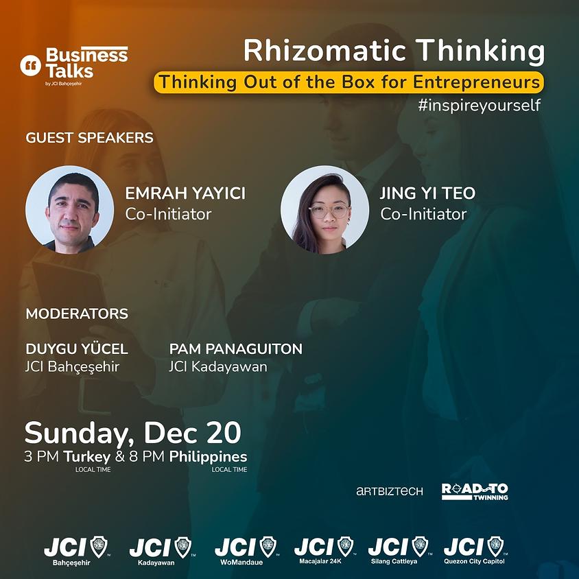 JCI Bahçeşehir | Road To Twinning Business Talks Rhizomatic Thinking Global Etkinliği