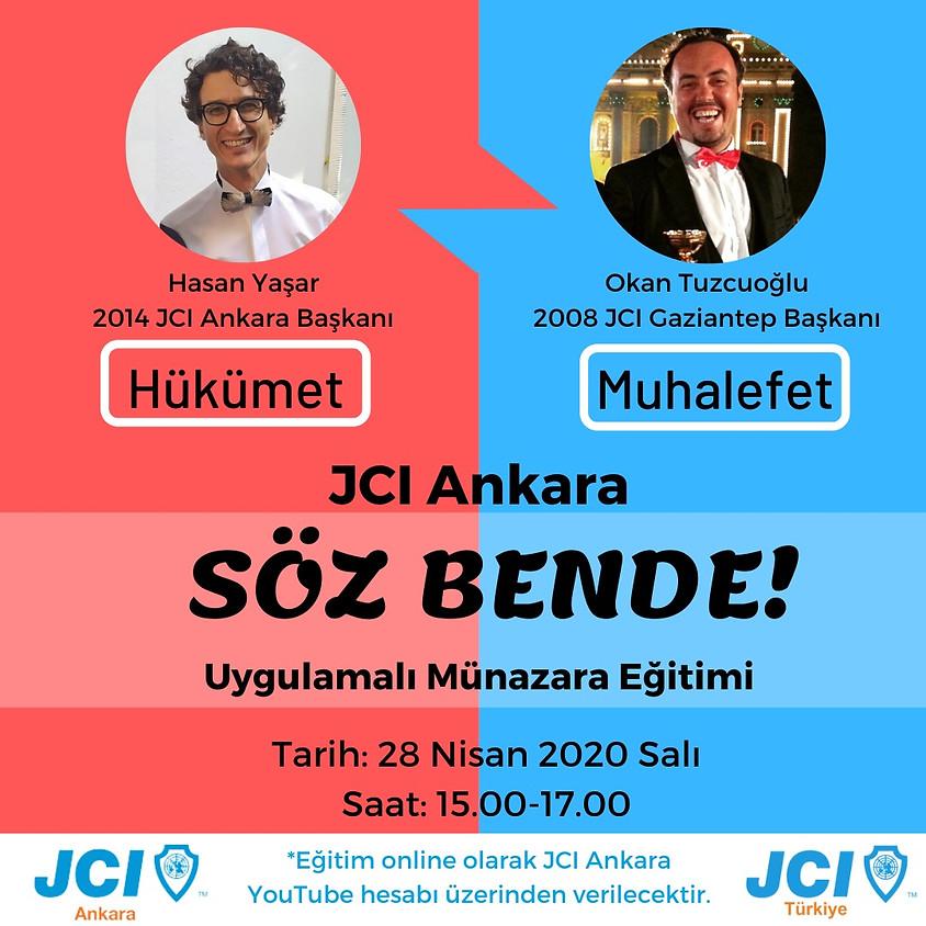 JCI Ankara | Söz Bende -  Münazara Eğitimi