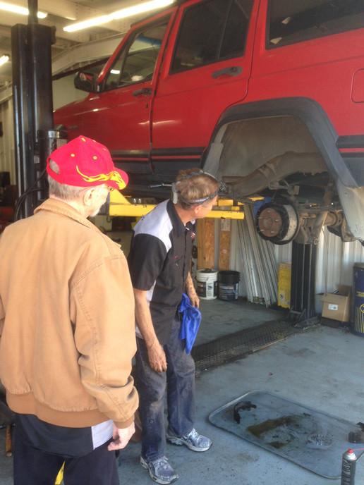 Roger supervising brake job.JPG