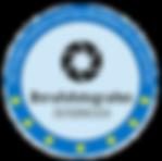 Das Siegel kennzeichnet dass EU-Passfotos nach den neuen Kriterien angefertigt werden.