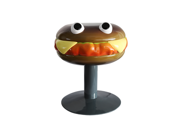 Charcoal Hamburger Chair