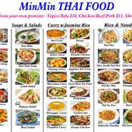Min Min Thai Menu
