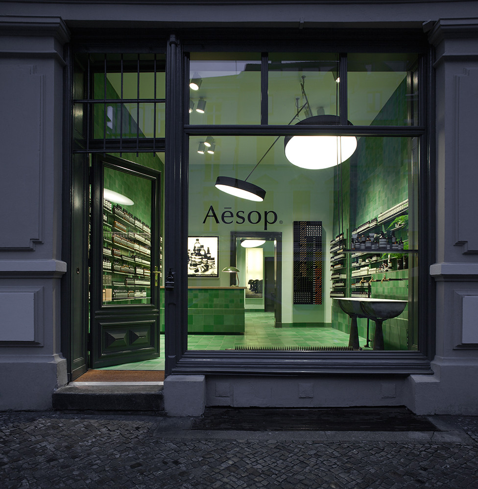 Aesop signature store Berlin Mitte