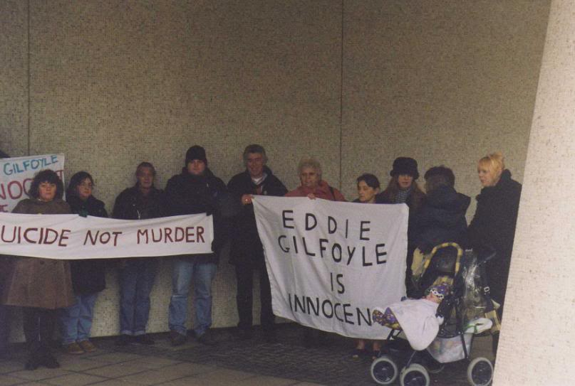 Demonstration outside CCRC Office