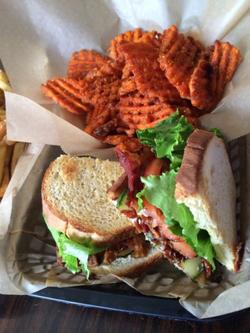 BLT and sweet potato fries