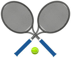 Tennis_Rackets_with_Ball_PNG_Clipart-859