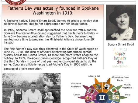 """Heritage Society asks, """"Where did Father's Day start?"""""""