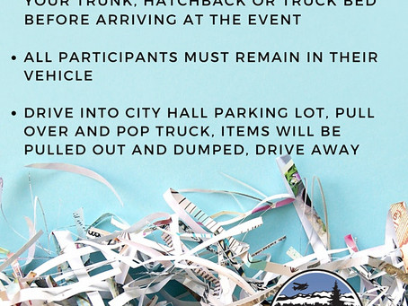 Free shredding event bring your personal documents, not your skateboard