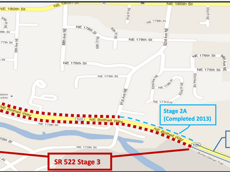 SR 522 Road construction continues on schedule