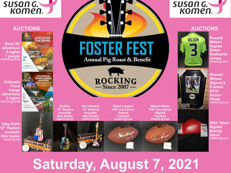Foster Fest benefit for Susan G Komen at KCC Aug. 7