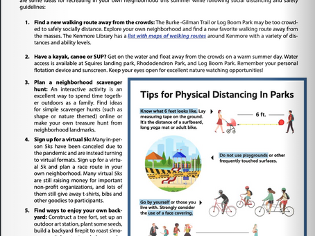 Kenmore issues guidance for outdoor summertime fun