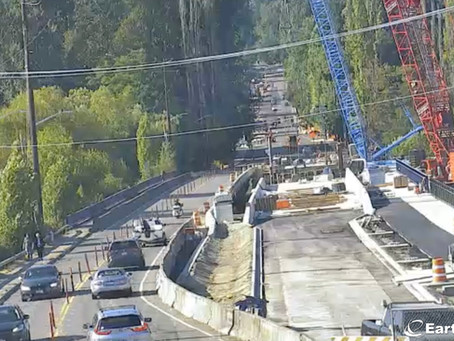 West Sammamish bridge work continues 24/7 in the water