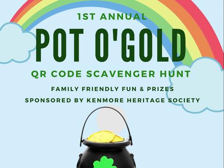 Celebrate St. Patrick's day with a pot o'gold scavenger hunt